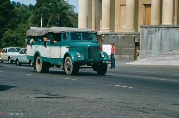 ПАЗ-651 с открытым кузовом автобусы, транспорт, это интересно