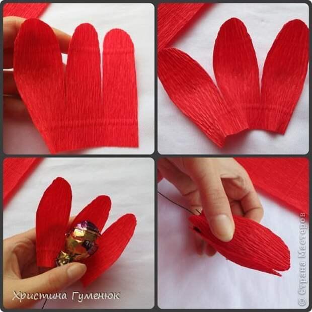 Мастер-класс Свит-дизайн Бумагопластика Цветы  как я их делаю  Бумага гофрированная фото 5
