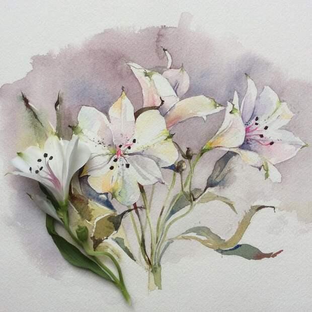 """""""Цветы цветут повсюду для всех..."""" Французская художница Olena Duchene"""