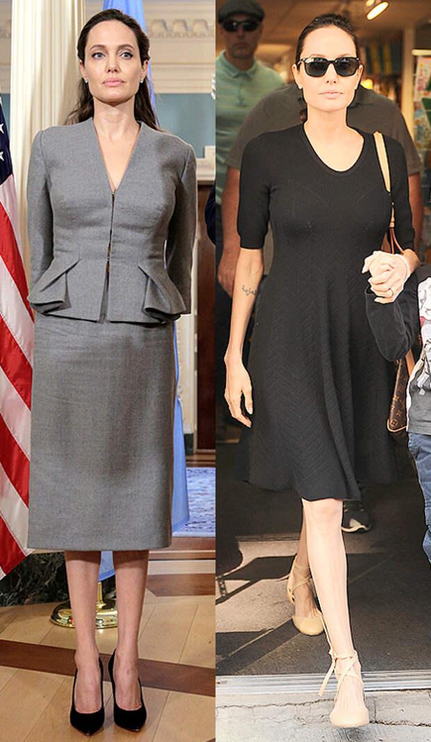 Анджелина Джоли сильно растолстела всего за месяц. Фото: REUTERS
