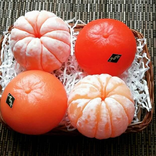 Мыло ручной работы в форме мандаринов – оригинальный бюджетный подарок (+ идеи коробочки)