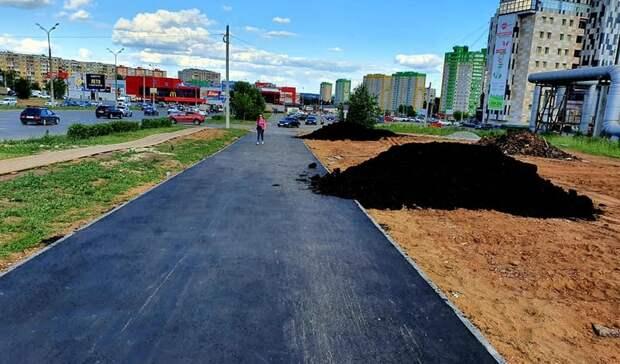 Застройщика заставили переделать тротуар на улице 10 лет Октября в Ижевске
