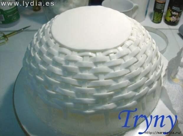 Лепка из полимерной глины. Плетеная корзинка