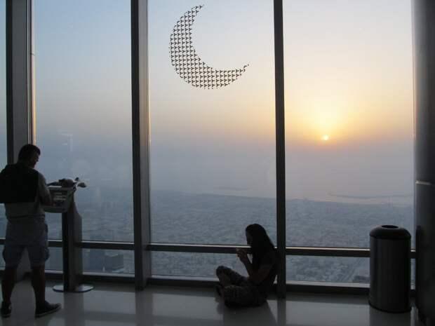 ОАЭ. вид с Бурдж- Халифы. Закат. Фото из личного архива