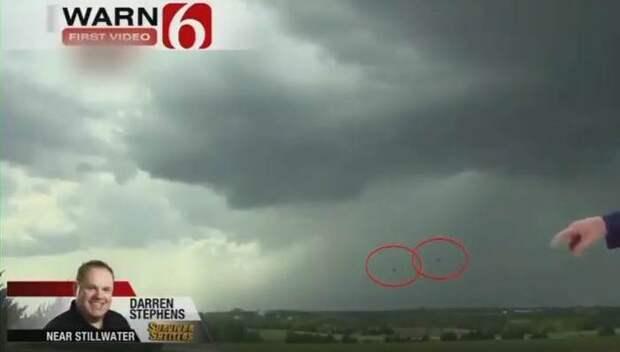 В прямой эфир новостей Оклахомы попали корабли пришельцев