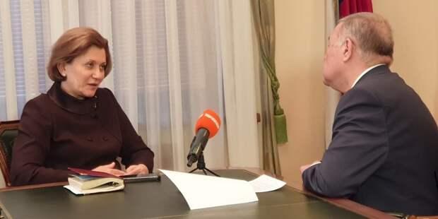 Попова заявила, что COVID-19 в России распространяется спокойными темпами