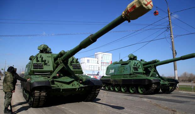 Фоторепортаж: Первая репетиция нижегородского парада Победы 2021 года