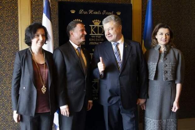 Порошенко шокировал Израиль пиджаком в ширинке