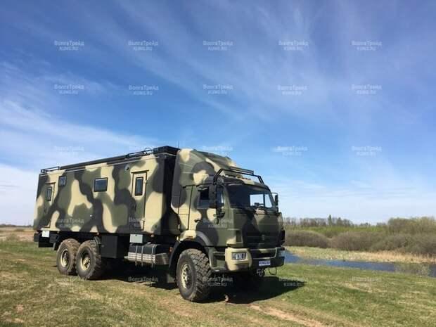Сегодняшний пост посвящен русскому автодому ПРЕМИУМ класса, построенного на базе КАМАЗ-43118 нижегородской компанией «ВолгаТрейд». авто, автодом, грузовики, камаз