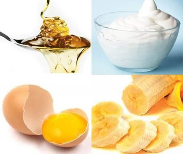 сметана, мед, банан, желток