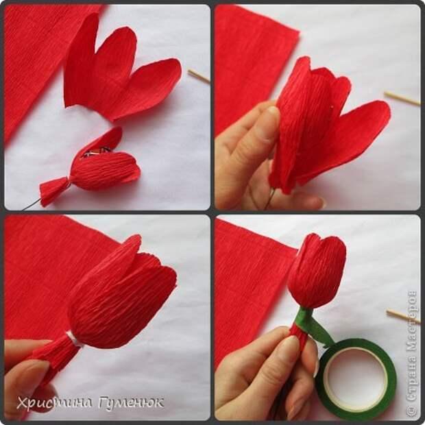 Мастер-класс Свит-дизайн Бумагопластика Цветы  как я их делаю  Бумага гофрированная фото 7