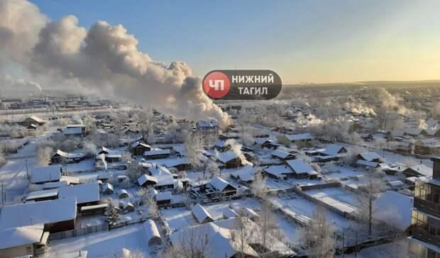 ВНижнем Тагиле загорелся частный дом наулице Кулибина