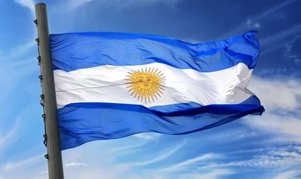 Флаг Аргентины. Иллюстрация