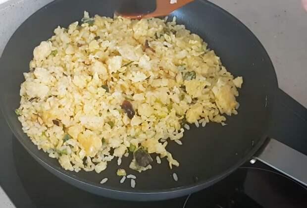 обжаривание риса