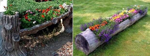 Цветы и клумбы: Как сделать оригинальную клумбу для цветов на даче своими руками