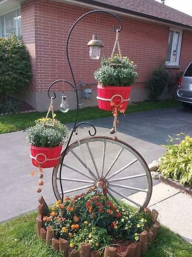 Креативные идеи для декора двора или дачного участка.