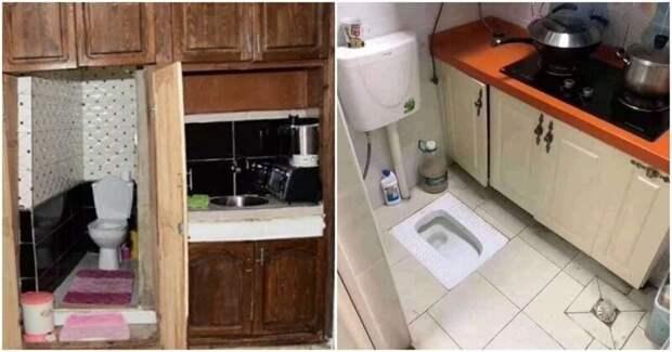 Смарт-квартиры, которые поражают даже бывалых риелторов: кухня и туалет в одной комнате