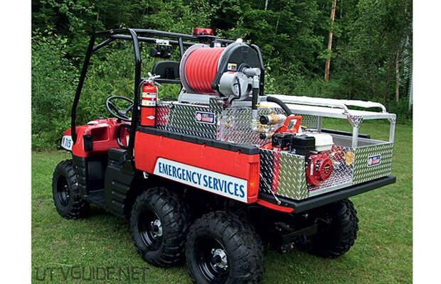 Пожарная машина на основе мотовездехода Polaris