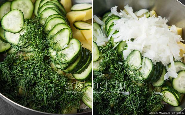 Картофельный дачный салат