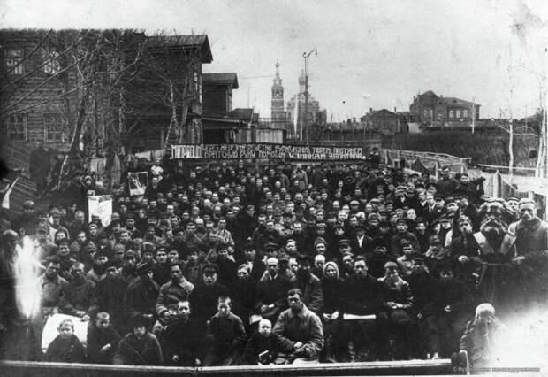 1926. Митинг по поводу отправки делегатов МОПР в Москву история, ретро, фото