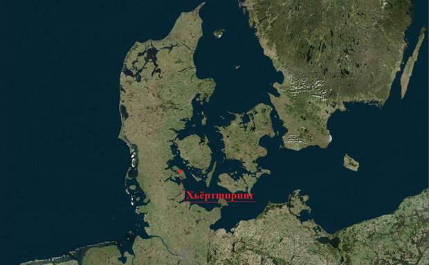 Место находки на карте - Скандинавские клады: армия из Хьёртшпринга   Warspot.ru