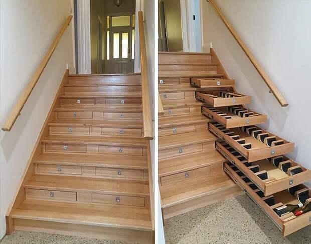 Хранение  в лестнице