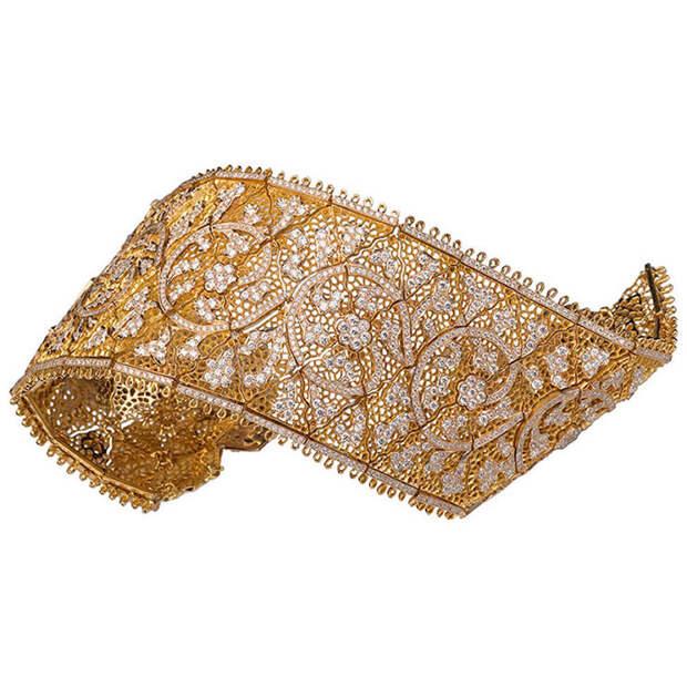 Браслет из желтого золота Buccellati Tulle