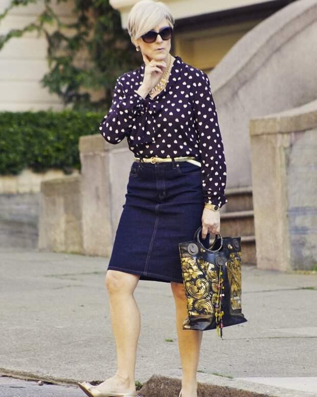 Джинсовый стиль для женщин 50+. Лучшие образы на каждый день
