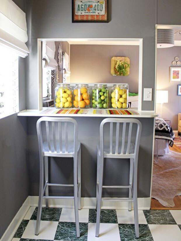 Дизайн маленькой кухни: обеденный стол - 06 - Портал Домашний