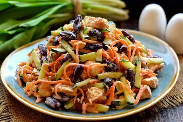 Вкусный салат «Четыре ингредиента»