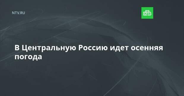 В Центральную Россию идет осенняя погода