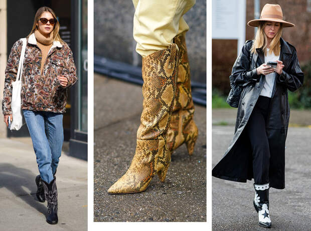 С чем носить ковбойские сапоги: на каждый день, в офис и на вечеринку