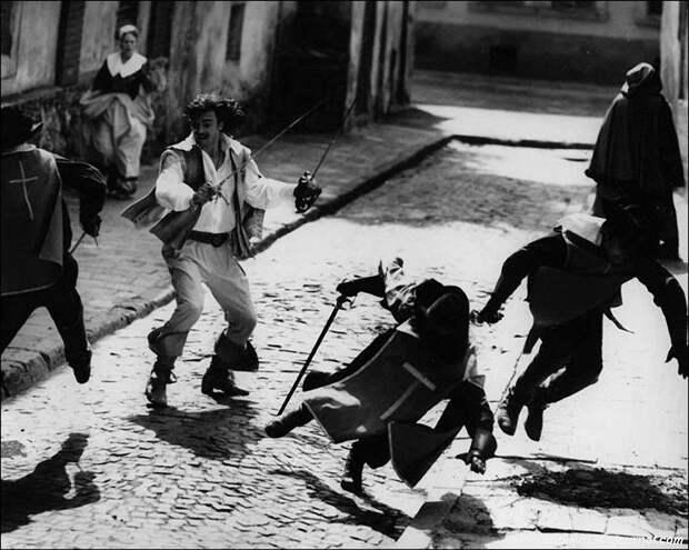 Как снимали трюки для фильма «Д'Артаньян и три мушкетёра».