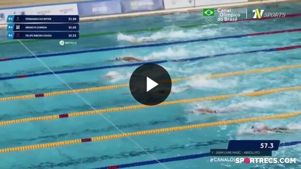 Rumo a Tóquio! Fernando Scheffer e Breno Correia garantem vaga nos Jogos Olímpicos nos 200m Livre Masculino - Dia 2 do Pré-Olímpico de Natação(20/04/2021)