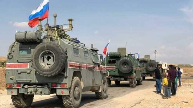Опубликовано видео автоколонны значительных сил РФ у сирийской Айн-Иссы