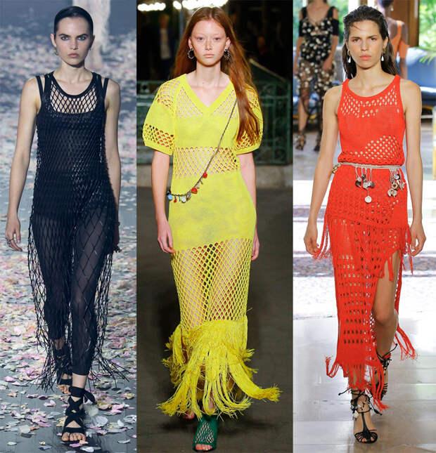 Модные платья из сетки