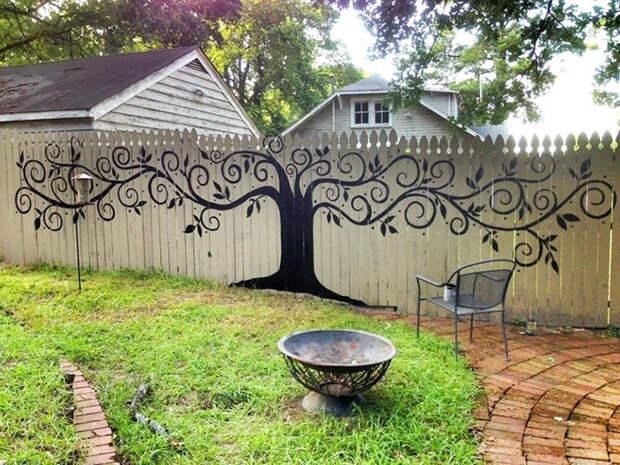 1. декор, забор, креатив