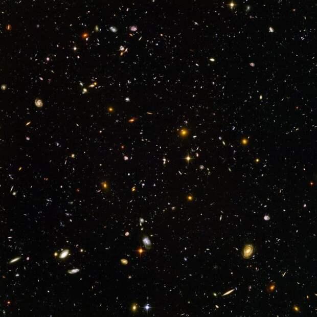 """На этом снимке, сделанном космическим телескопом""""Хаббл"""", видны десять тысяч галактик одновременно ТУМАННОСТИ, звезды, космический телескоп, космос, необычно, планеты, снимки, фото"""