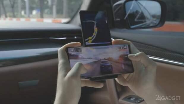 На смартфоне с двумя экранами LG Wing запустили игру Asphalt 9