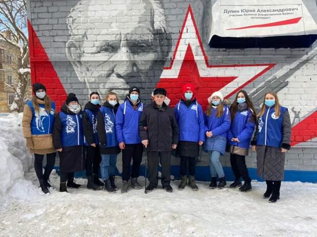 Портрет участника Великой Отечественной войны появился наулице Красносельской вНижнем Новгороде