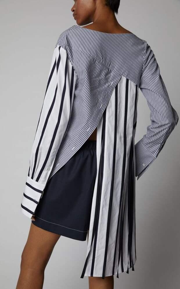 блузки в полоску