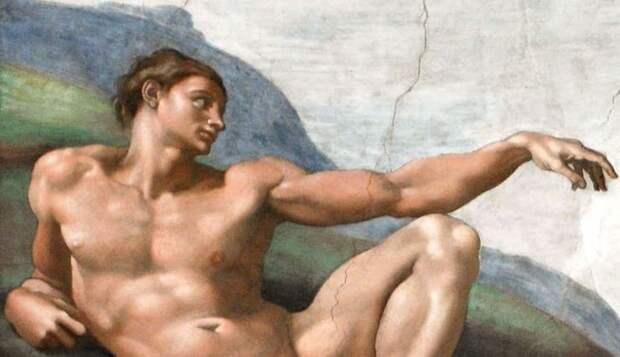 Сотворение Адама (фрагмент)