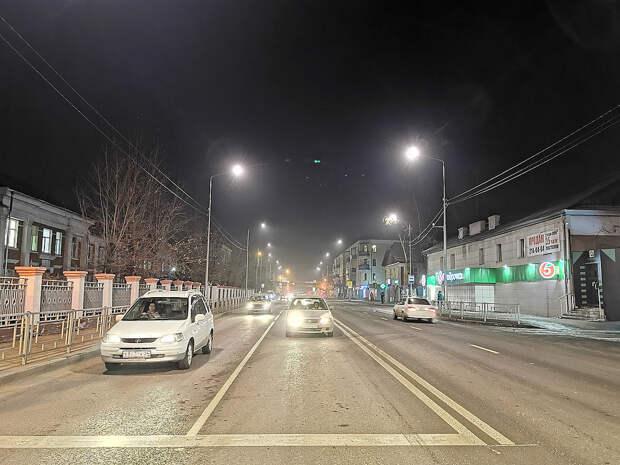 На семи улицах Красноярска обновили освещение