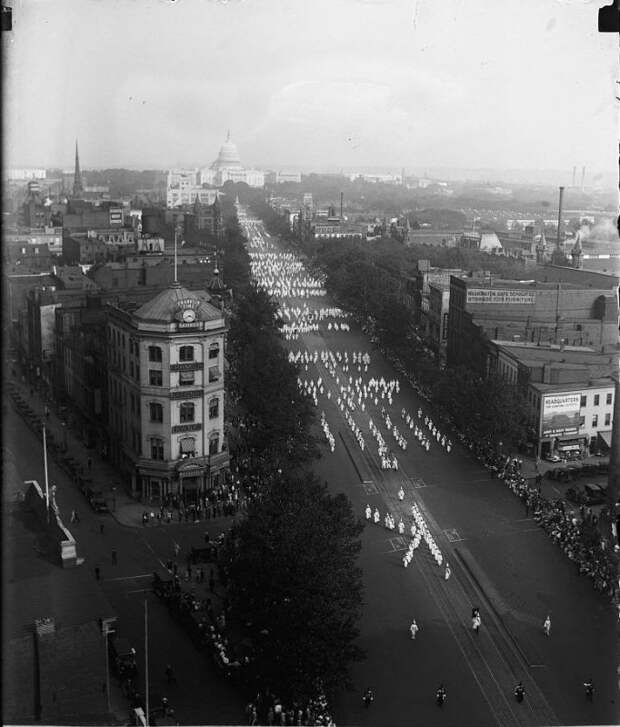 Ку-клукс-клан парад, Вашингтон 1926.