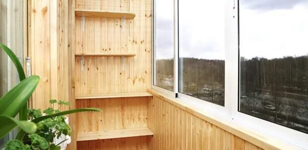 Как выбрать вагонку для отделки балкона