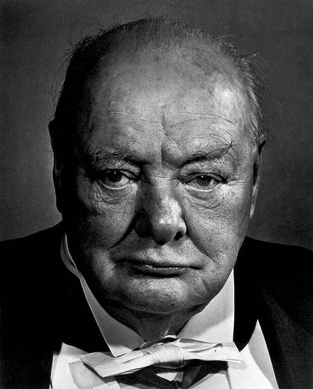 Winston Churchill by Yousuf Karsh