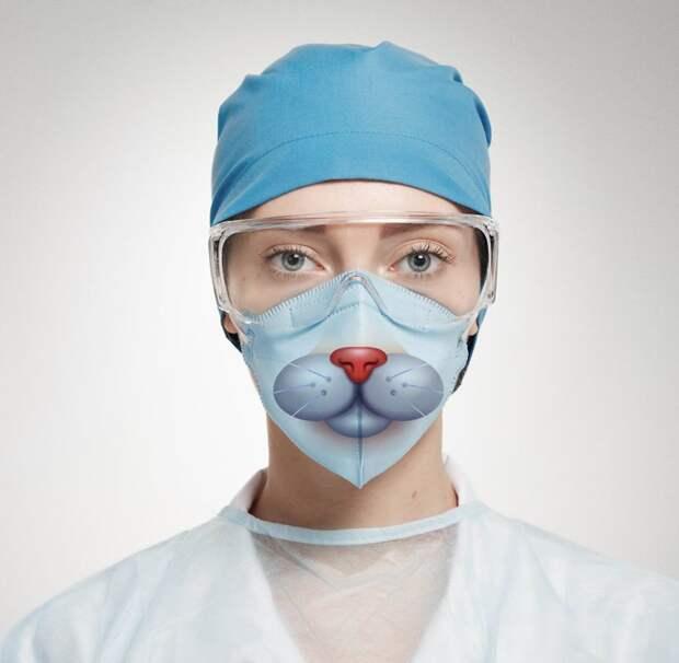 Эти креативные медицинские маски сделают поход в больницу веселее! больница, врачи, креатив, маски, медицина, пациенты, творчество, фото