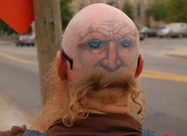 Тату на голове...)))