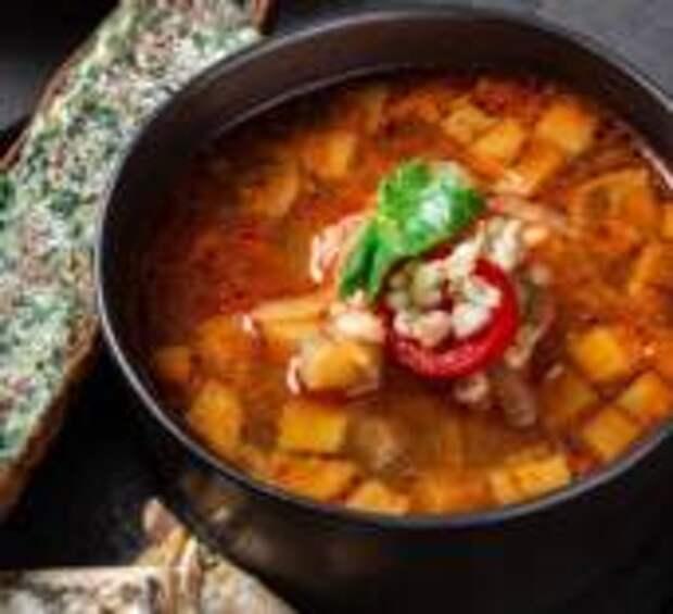 Ударь по рёбрам - Суп из бараньих рёбер с перловкой и баклажаном