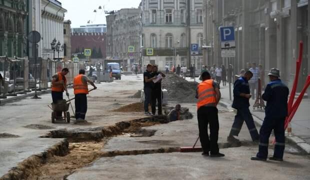 Началась инженерная подготовка к благоустройству на участке проспект Андропова - Липецкая улица